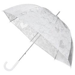 Gennemsigtig paraply med blonder